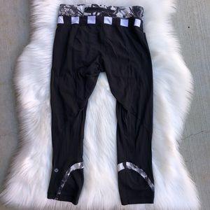 Lululemon run inspire leggings black rose 4